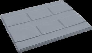 Deckel für Batteriepaloxe zur Entsorgung von Altbatterien