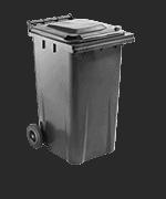Mülltonne - Kunststoff <br data-eio=