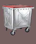 Müllcontainer - verzinkt <br data-eio=