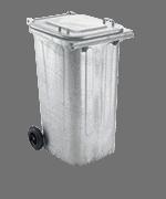 Mülltonne - verzinkt für Ölfilter und ölverschmutzte Betriebsmittel (für 240 Liter - MGB 240)