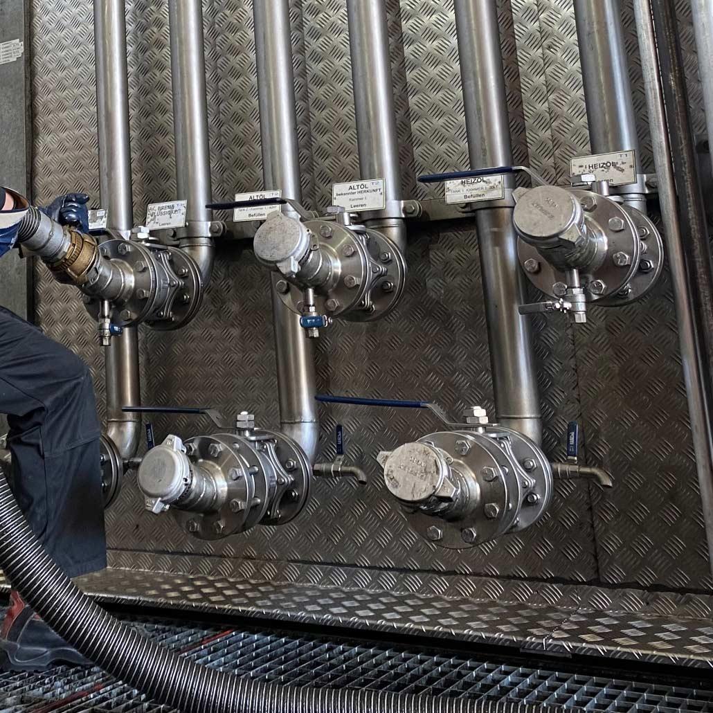 Kammersystem für die Altölentsorgung